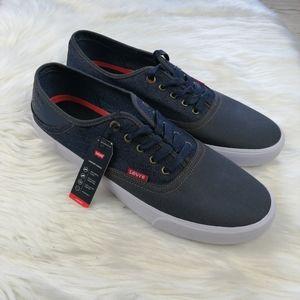 Levi's Men's Blue Demin Sneakers Size 13
